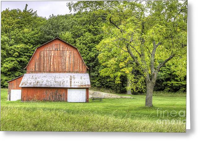 Olsen Farm At Port Oneida Greeting Card