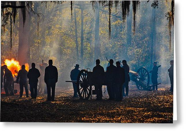 Olustee Cannonade  Greeting Card by John Stokes