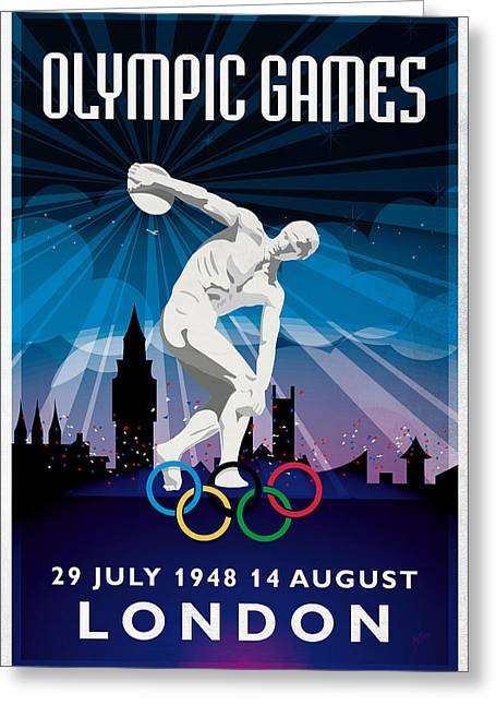 Olympic Games London 1948 New Style Greeting Card