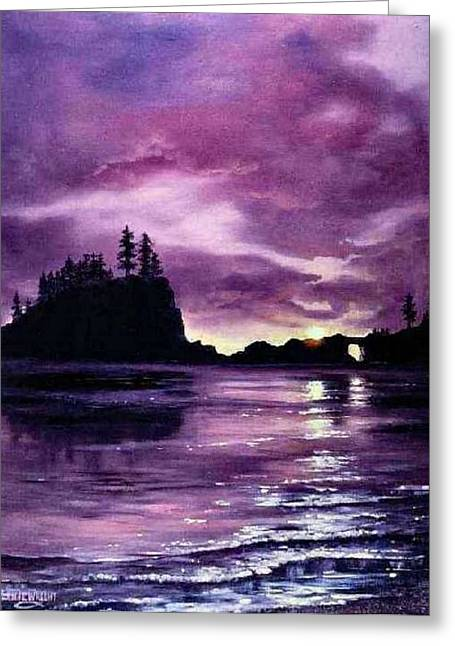 Olympic Inlet Greeting Card