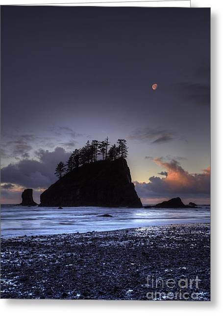 Olympic Nationals Moon Stacks Greeting Card by Marco Crupi