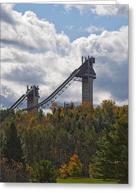 Olympic Ski Jumps Lake Placid Greeting Card