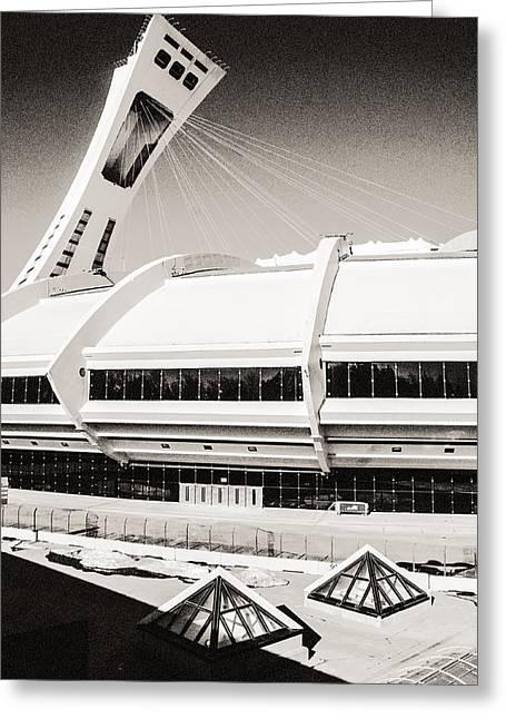 Olympic Stadium Greeting Card by Arkady Kunysz