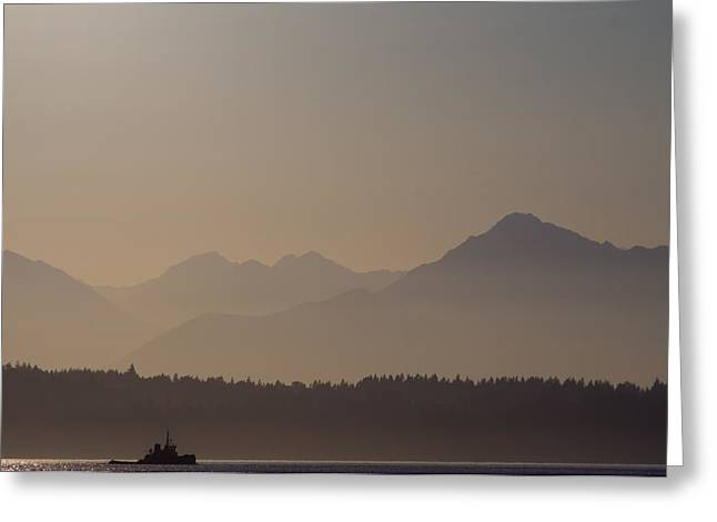 Greeting Card featuring the photograph Olympic Tug by Erin Kohlenberg
