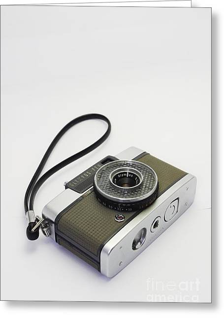Olympus Pen-film Camera Greeting Card by Tuimages