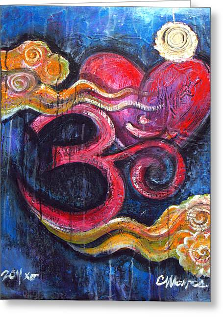 Om Heart Of Kindness Greeting Card