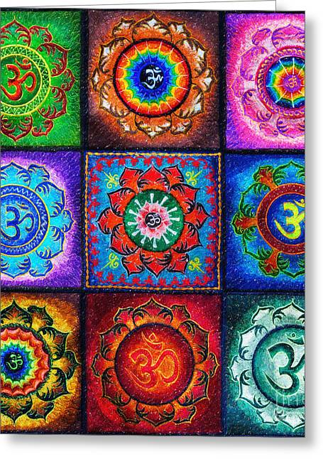 Om Squared Greeting Card