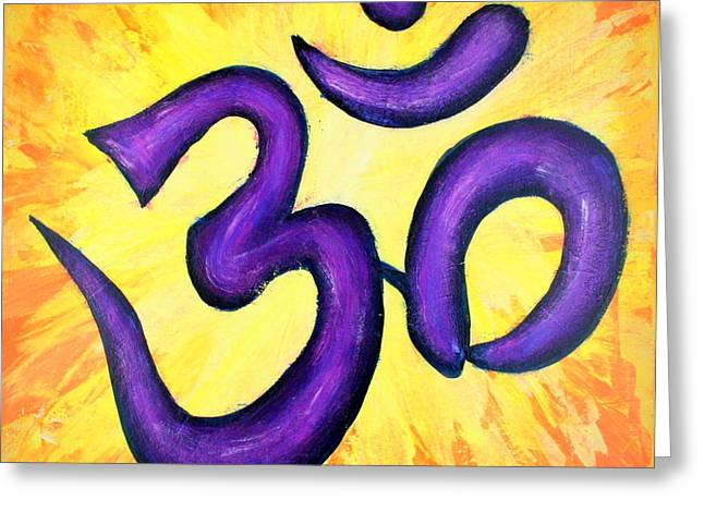Om Symbol Art Painting Greeting Card