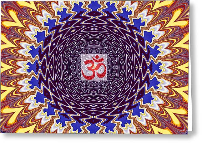 Om Twisted Ripples Greeting Card