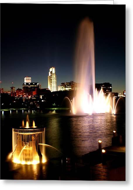 Omaha Skyline At Sunset Greeting Card