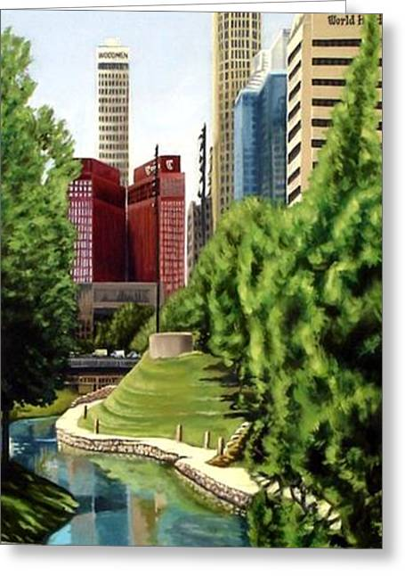 Omaha Skyline Greeting Card