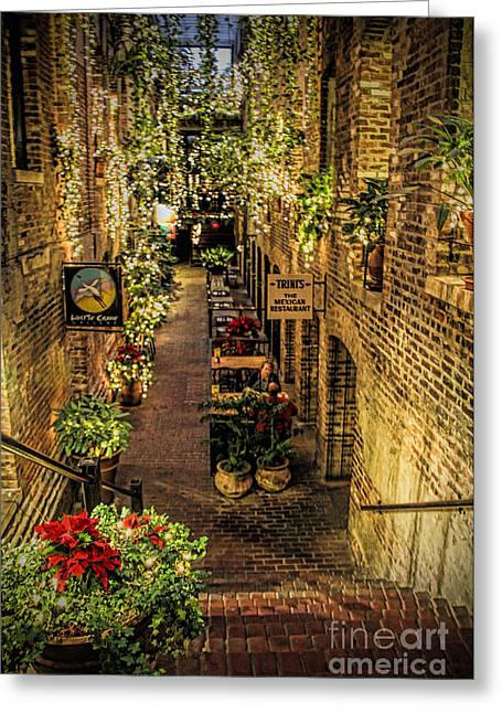 Omaha's Old Market Passageway Greeting Card by Elizabeth Winter