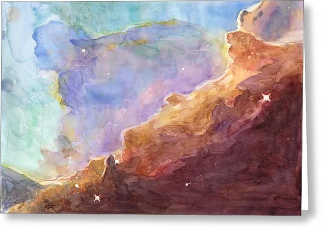 Omega Nebula Greeting Card by Max Good