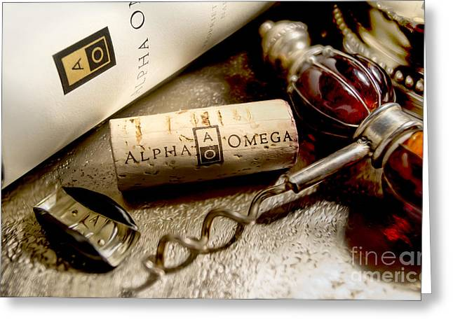Omega Uncorked Greeting Card by Jon Neidert