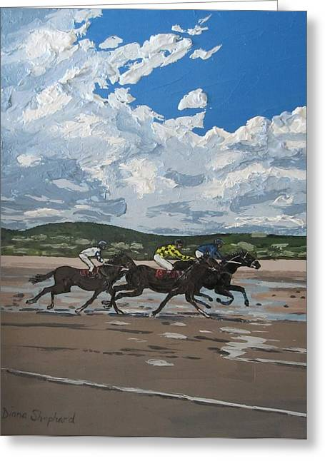 Omey Horse Races Cladaghduff Connemara Ireland Greeting Card