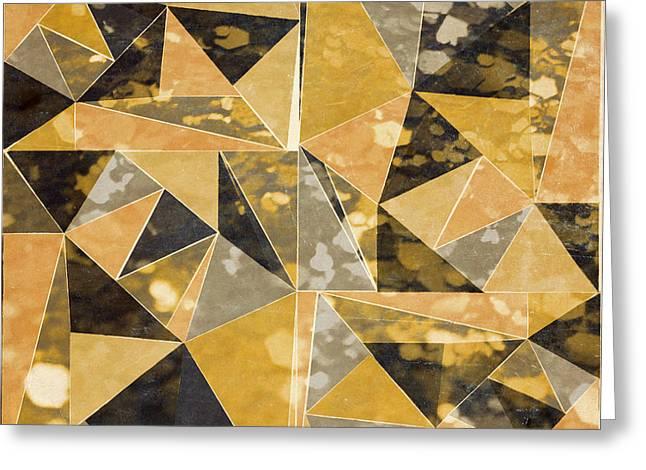 Omg Gold Triangles I Greeting Card