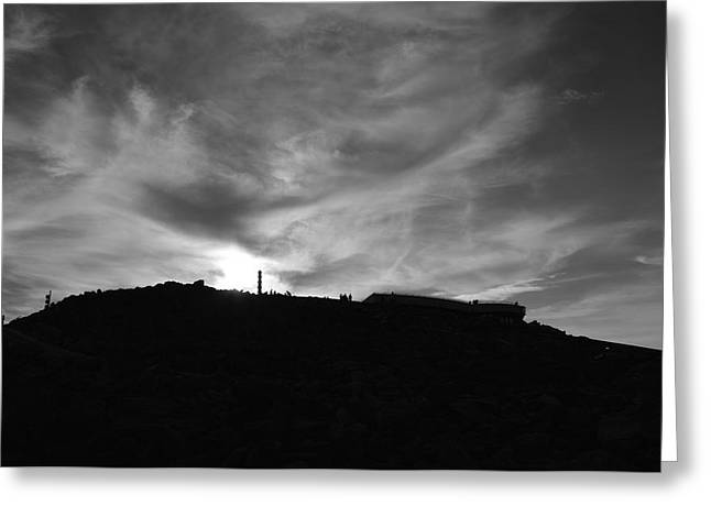 Ominous Sky Over Mt. Washington Greeting Card