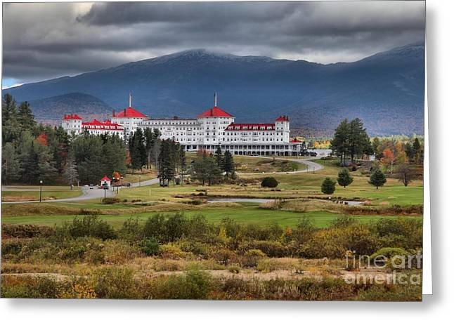 Omni Resort In The White Mountains Greeting Card by Adam Jewell