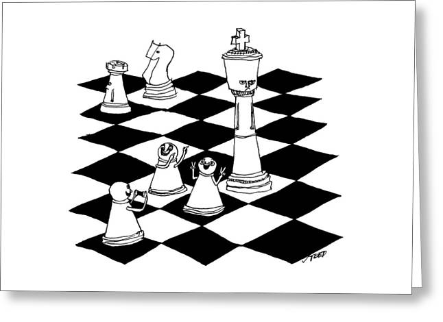 On A Chessboard Greeting Card