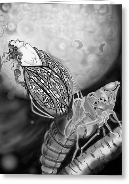 Greeting Card featuring the digital art On Becoming by Carol Jacobs