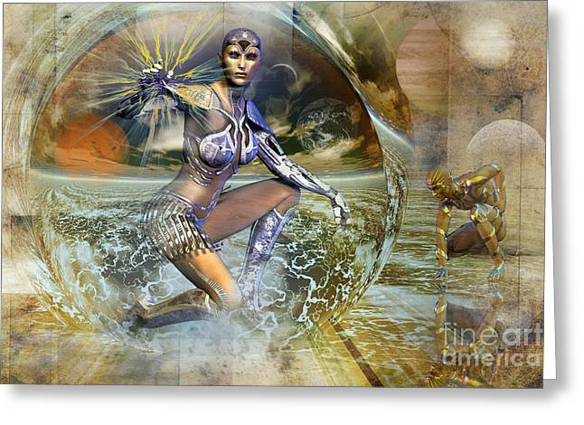 On Distant Shores Greeting Card by Shadowlea Is