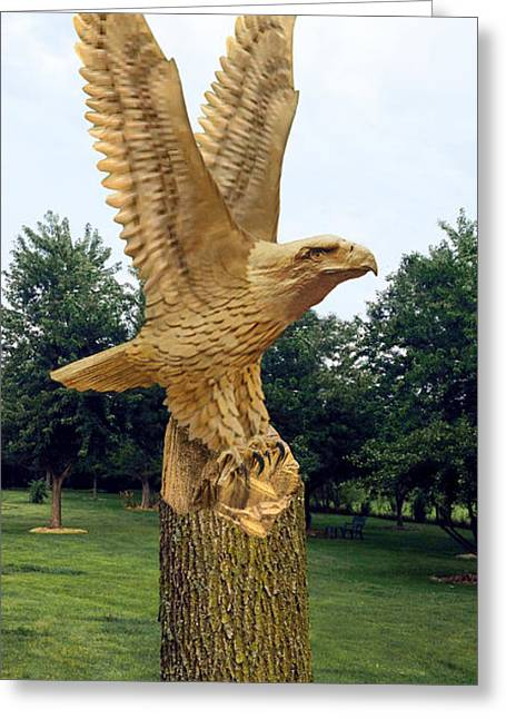 On Eagle's Wings Greeting Card