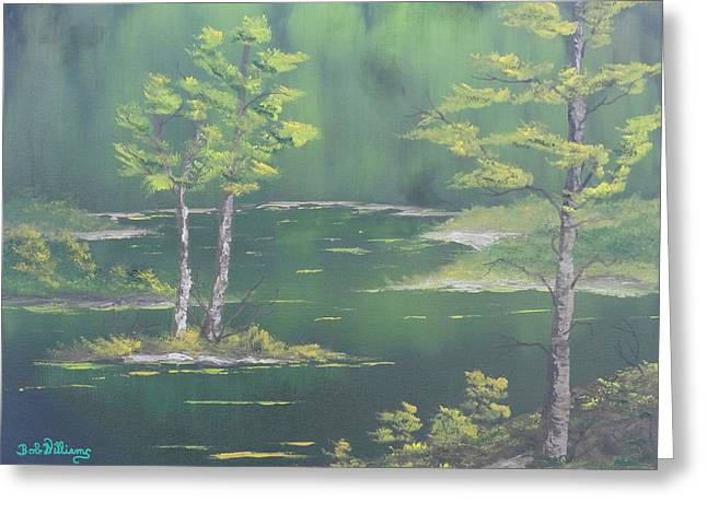 On Emerald Pond Greeting Card