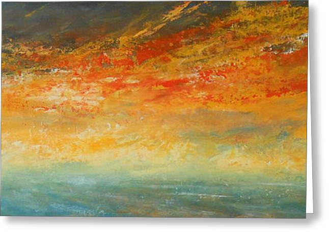 On Fire Greeting Card by Jane See
