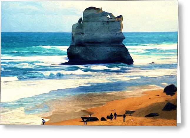 On Gibson Beach Greeting Card by Dennis Lundell