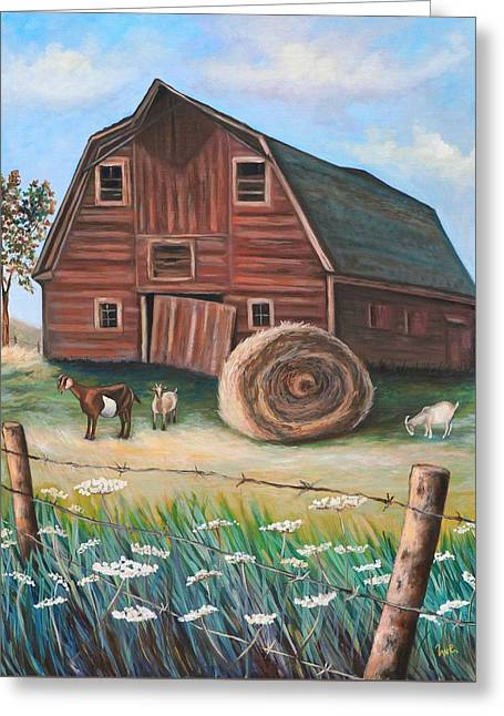 On Golden Farm Greeting Card