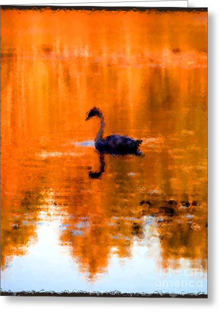 On Golden Pond Greeting Card by Jack Gannon
