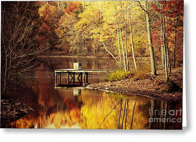 On Golden Pond Greeting Card by Katya Horner