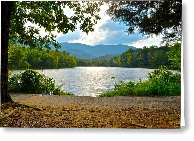 On Golden Pond Greeting Card by Frozen in Time Fine Art Photography