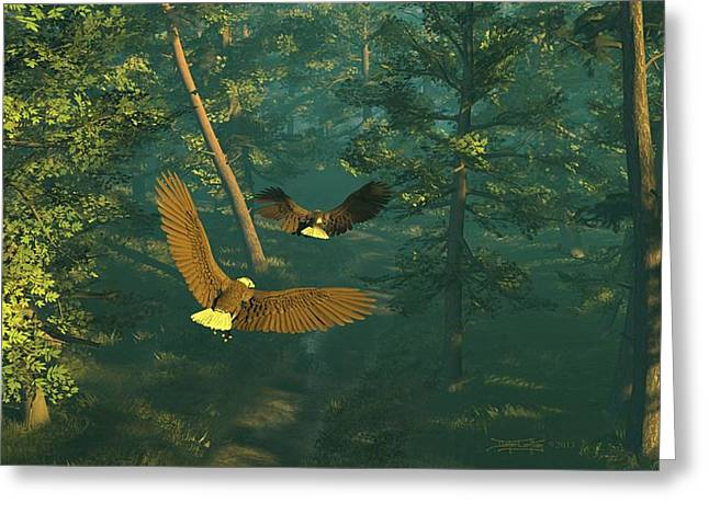 On Graceful Wings Part I Greeting Card by Dieter Carlton