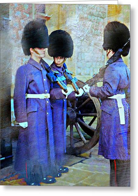On Guard London Greeting Card