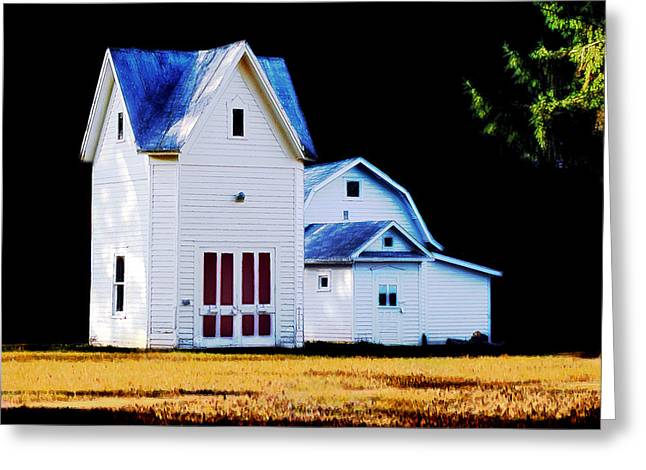On Hwy B In Ogdensburg Wisconsin Greeting Card by David Blank