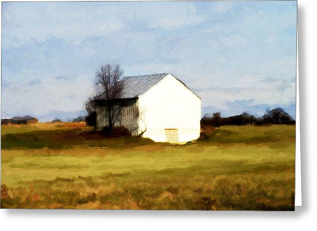 On Hwy B Near Ogdensburg.  Greeting Card by David Blank