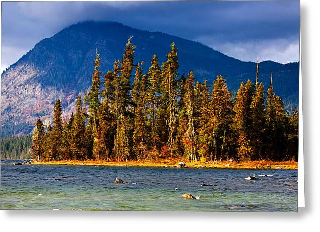 On Lake Wenatchee Before The Storm Greeting Card