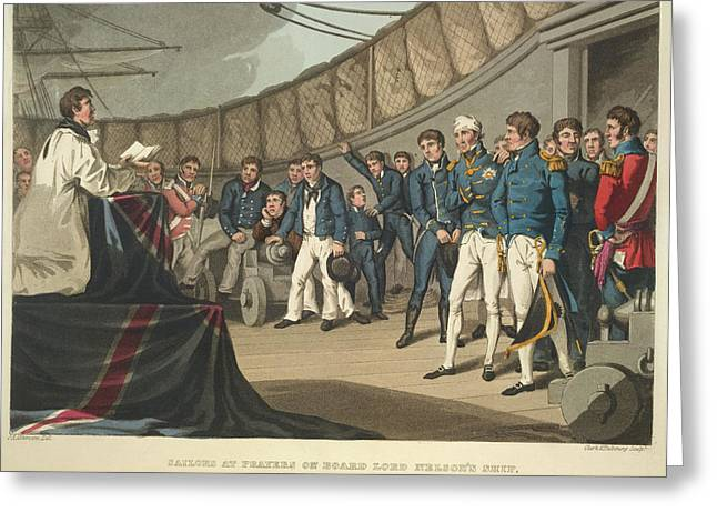 On Lord Nelson's Ship Greeting Card