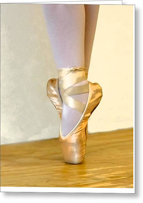 Ballet Toes On Point Greeting Card