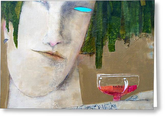 On Rioja Time Greeting Card by Beth Myers