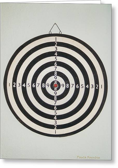 On Target Greeting Card by Paula Rountree Bischoff