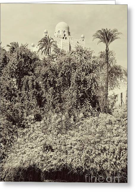 On The Banks Of The Nile Greeting Card by Nigel Fletcher-Jones