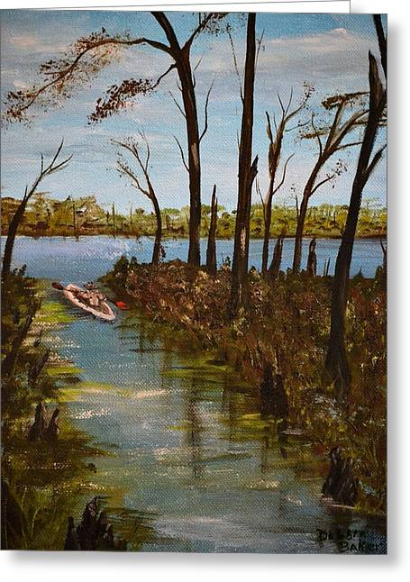 On The Bayou Greeting Card by Debbie Baker
