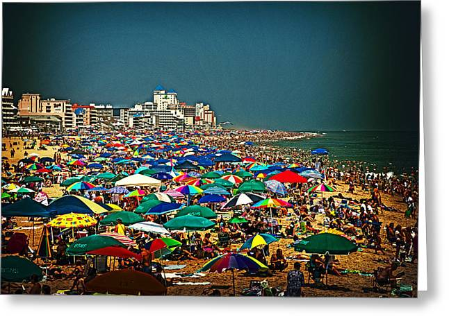 On The Beach In August Greeting Card
