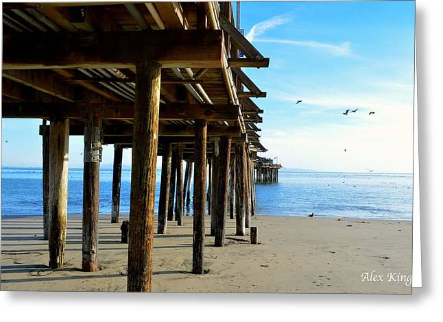 On The Beach In Capitola Greeting Card by Alex King