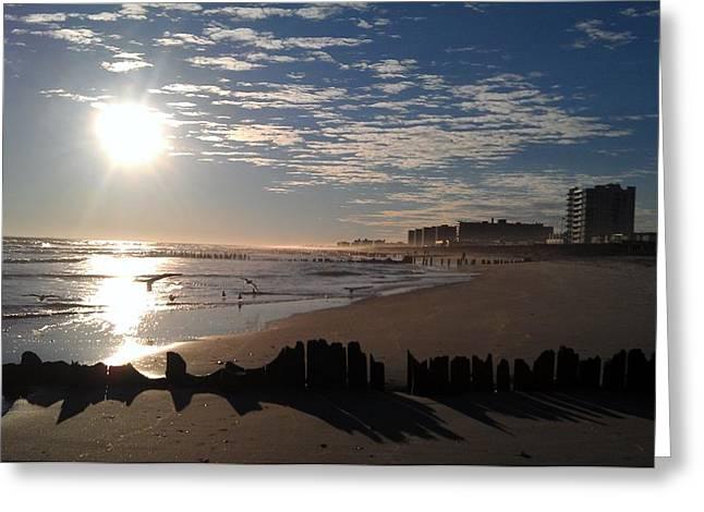 On The Beach Greeting Card by Rita Tortorelli