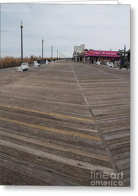 On The Boardwalk Greeting Card by Arlene Carmel