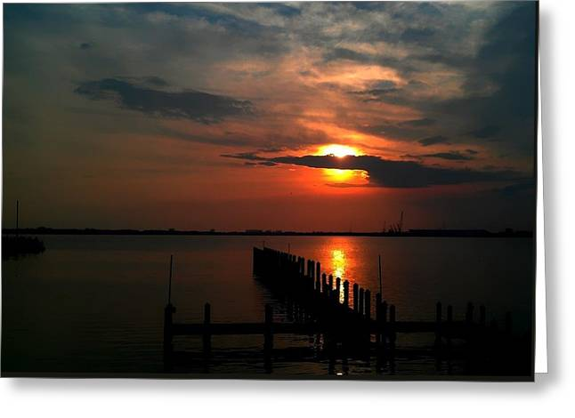 Greeting Card featuring the photograph On The Boardwalk by Debra Forand