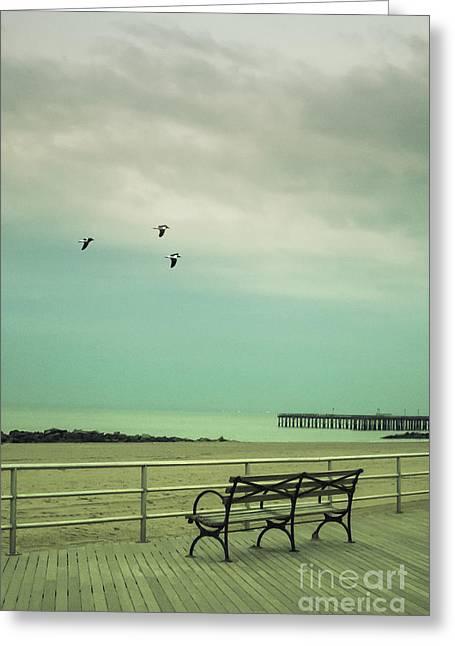 On The Boardwalk Greeting Card by Margie Hurwich